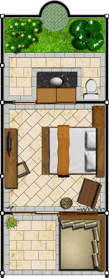 Suar Superior Rooms Floor Plan
