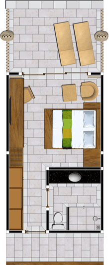 Ocean View Rooms Floor Plan