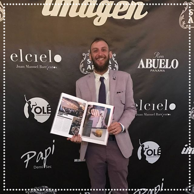 Joel Lindenfeld - The creator of the new 26 Sushi & Tapas concept, at the magazine release party on March 28th, 2017,  proudly showing off that the hard work our staff puts in, definitely pays off with such great write ups in our high end local publications like Imagen Magazine (www.imagenmagazines.com) along side other great restaurants like El Cielo by Juan Manuel Barrientos. IG: @Imagenmagazines   @elcielorestaurant  @juanmaelcielo