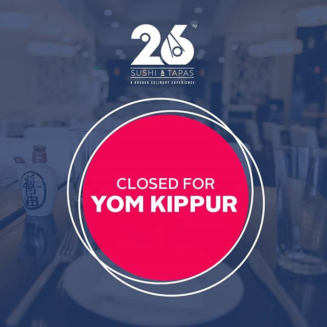 Taking a little break for #YomKippur Closed tomorrow, Sep. 18 and Wednesday 19, but we'll be back on Thursday the 20th!