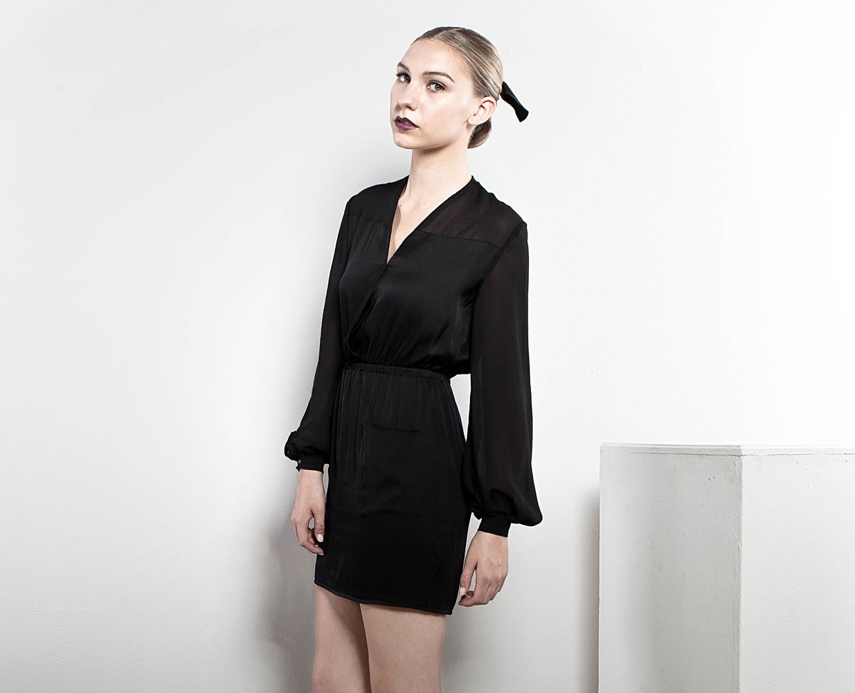 black-silk-dress