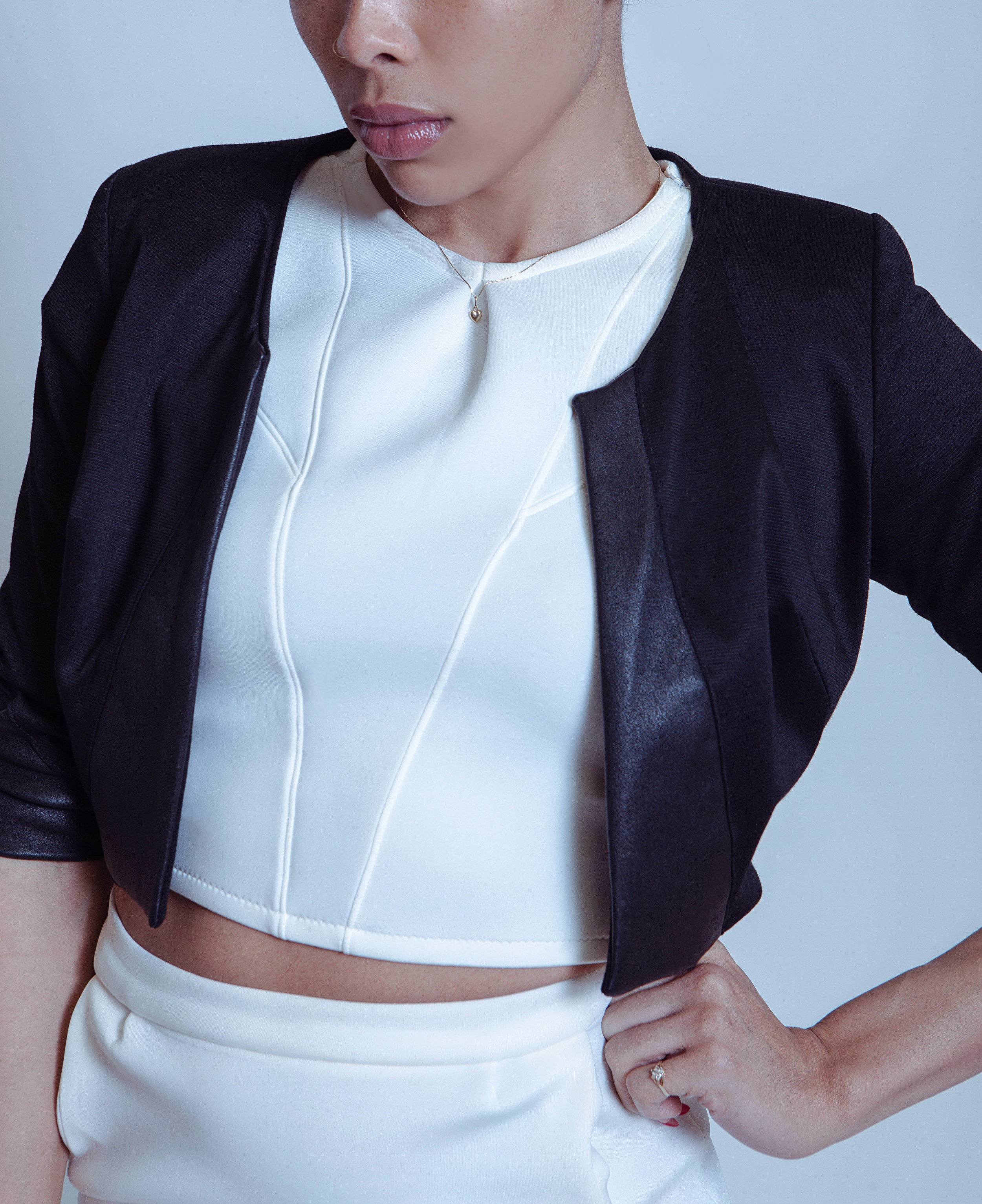 Black Lotus Crop Jacket - Soft, but with an edge...