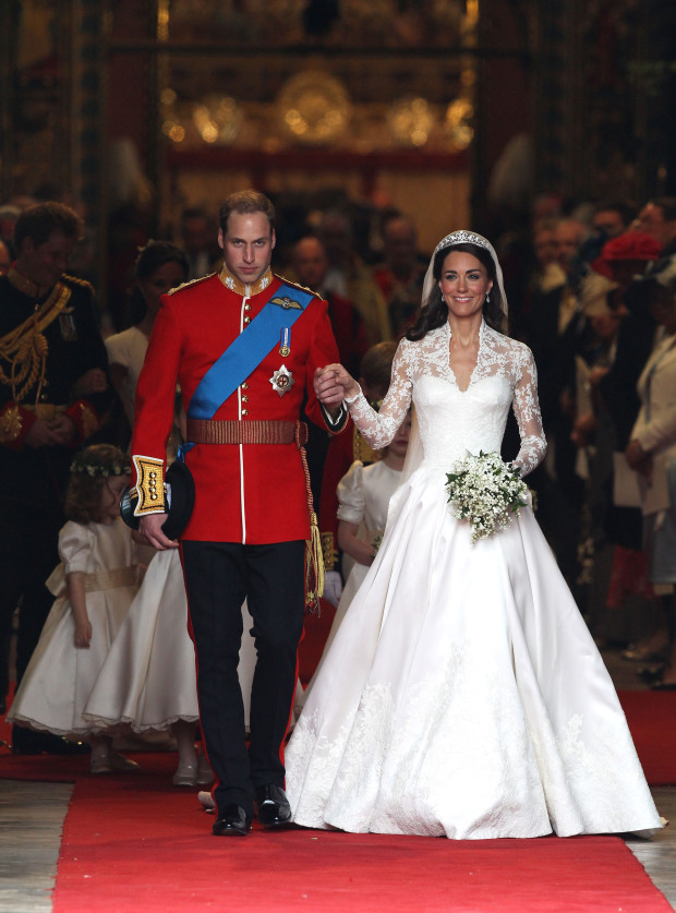 Pictured Prince William and Kate Middleton