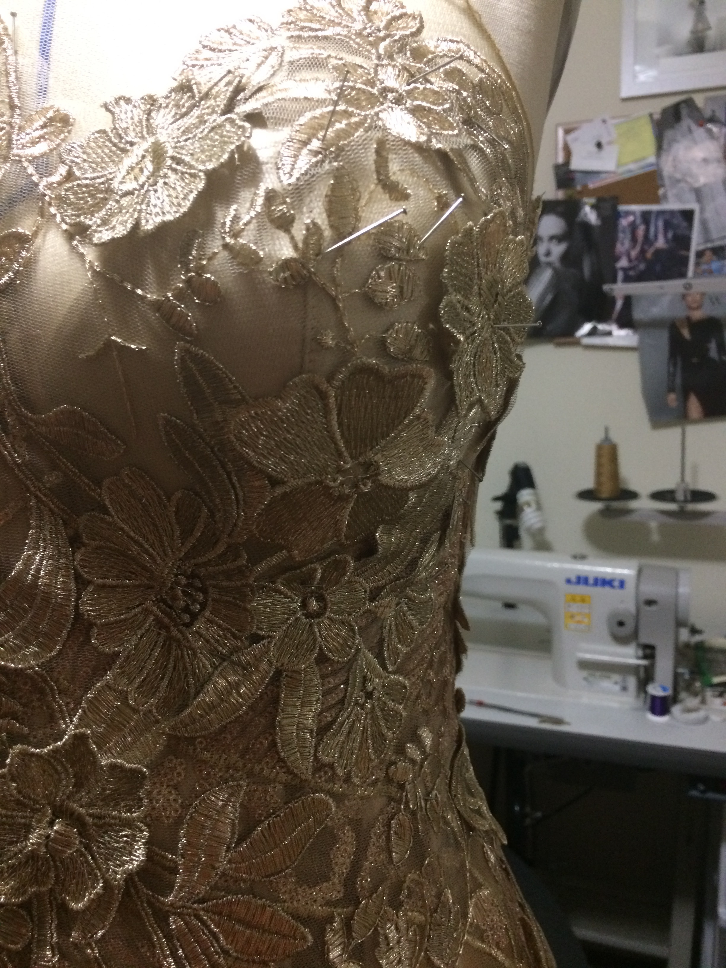 Hand Sewn Lace Applique Detail