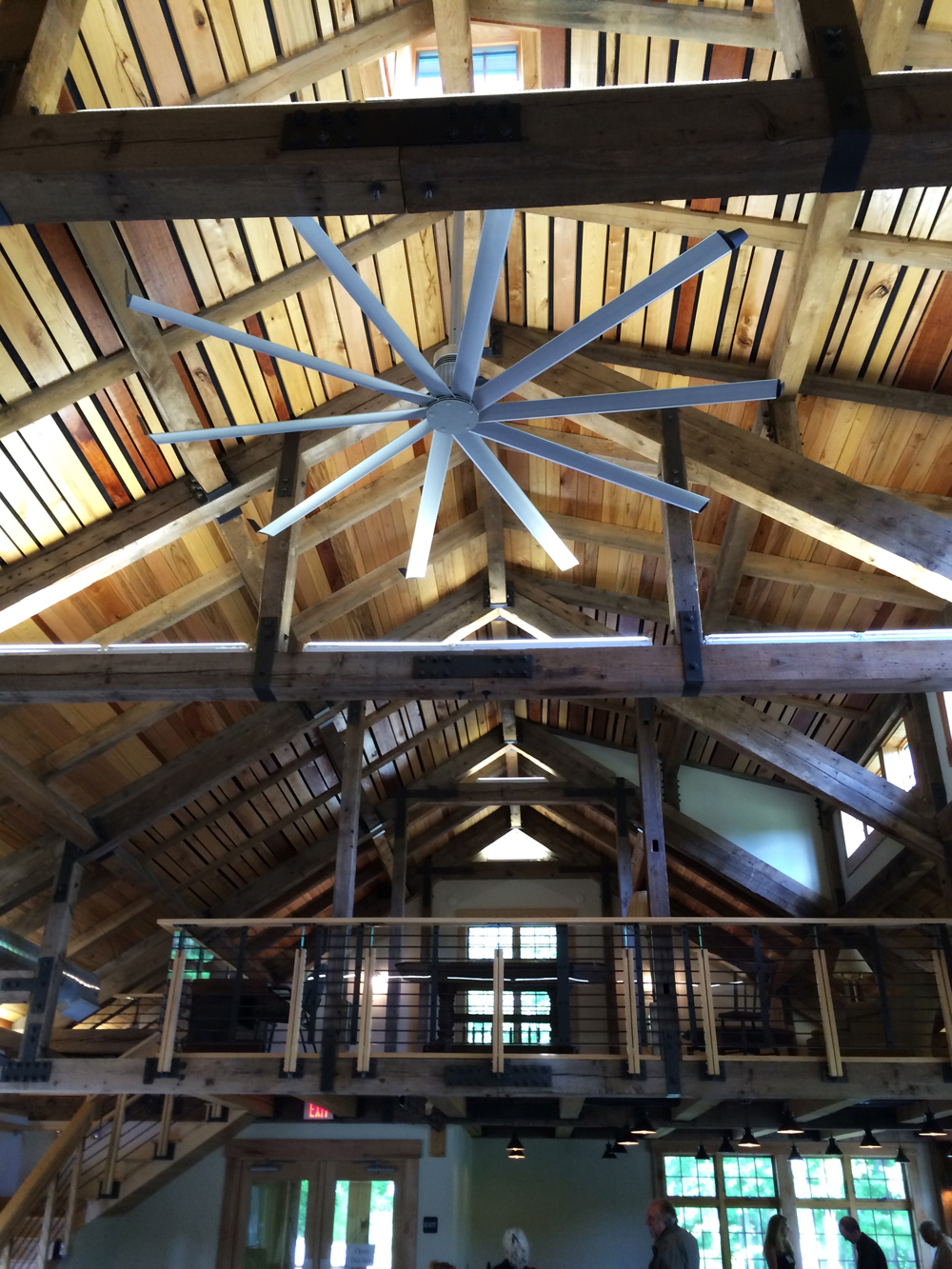 Gorgeous roof in The Barn.