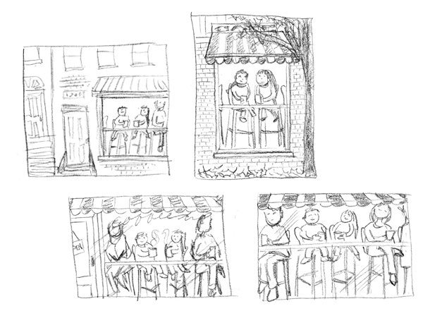 These sketches are only a couple of inches wide.
