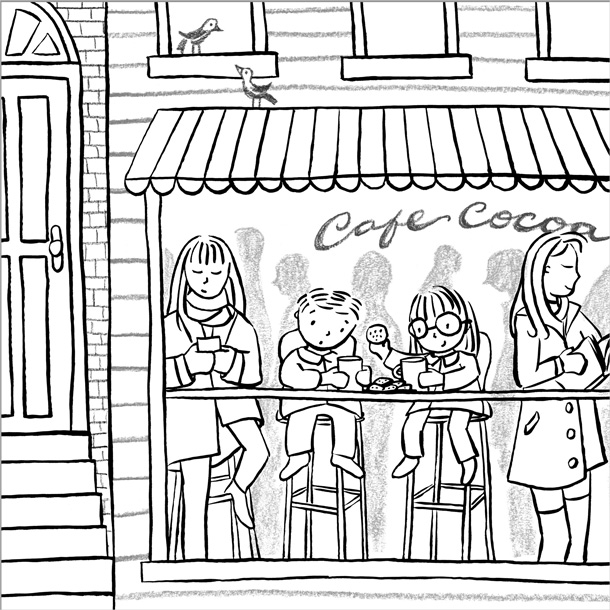 This is the final composite of ink line work and pencil textured details.