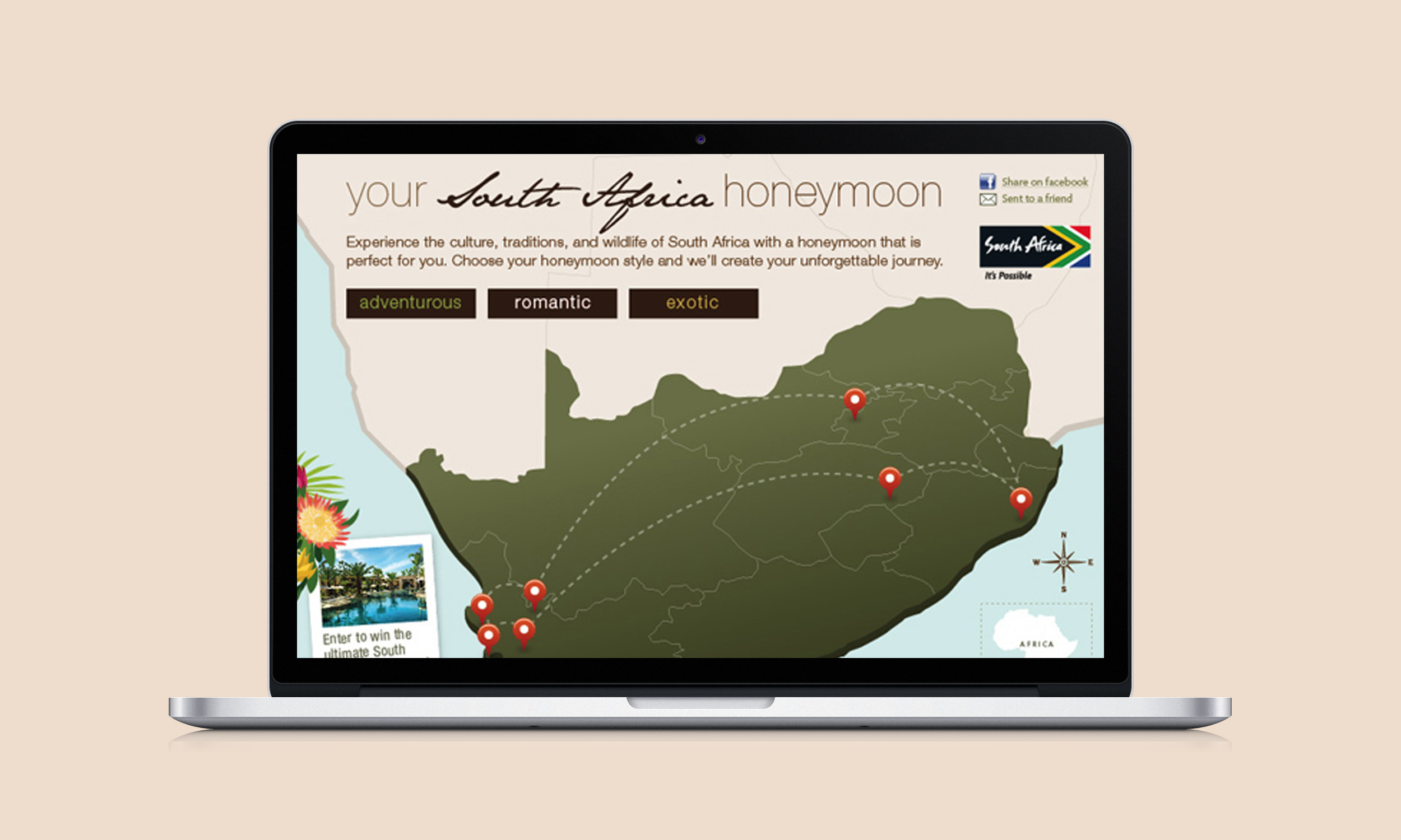 South Africa Tourism Sitelet