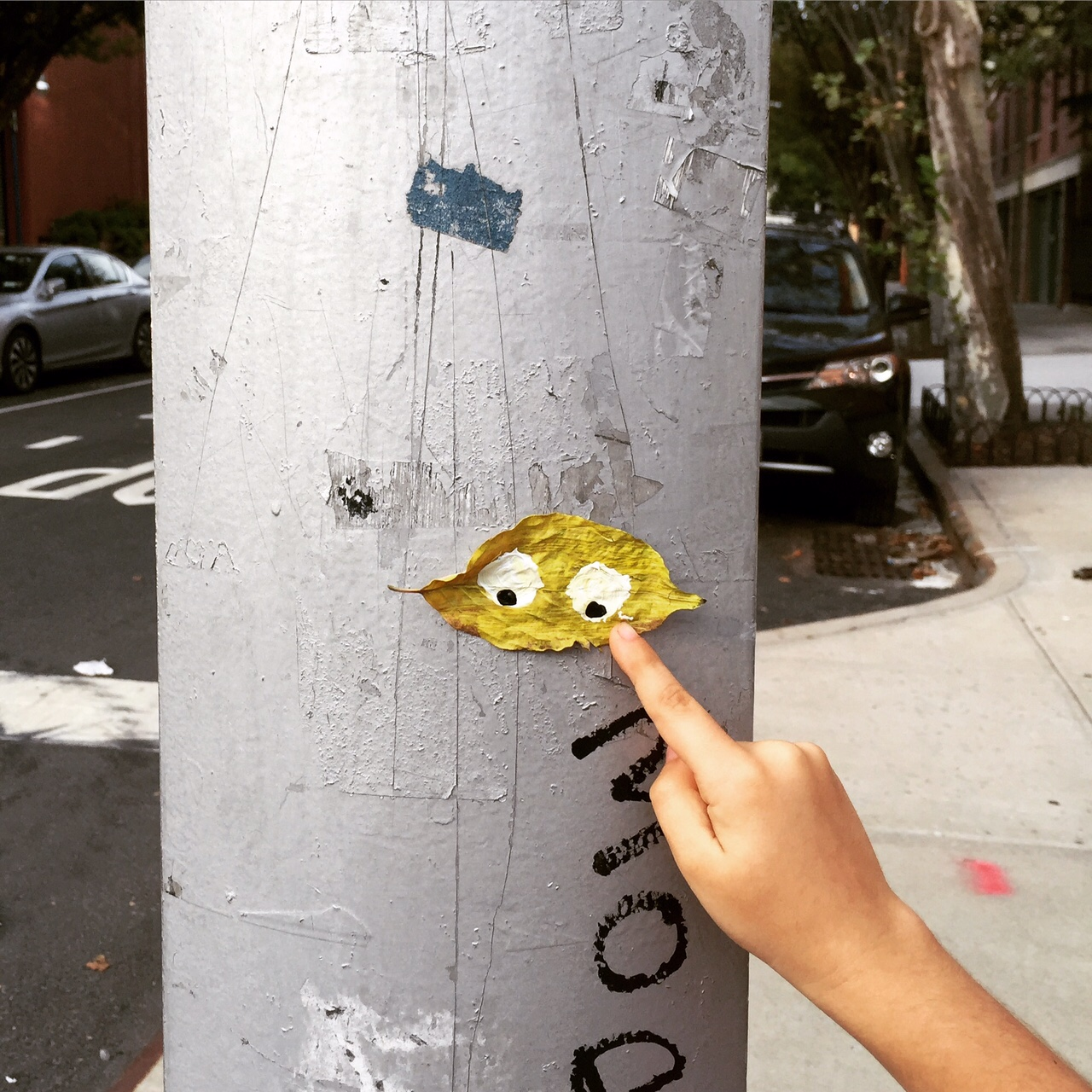 Stop sign poles love our family street art.