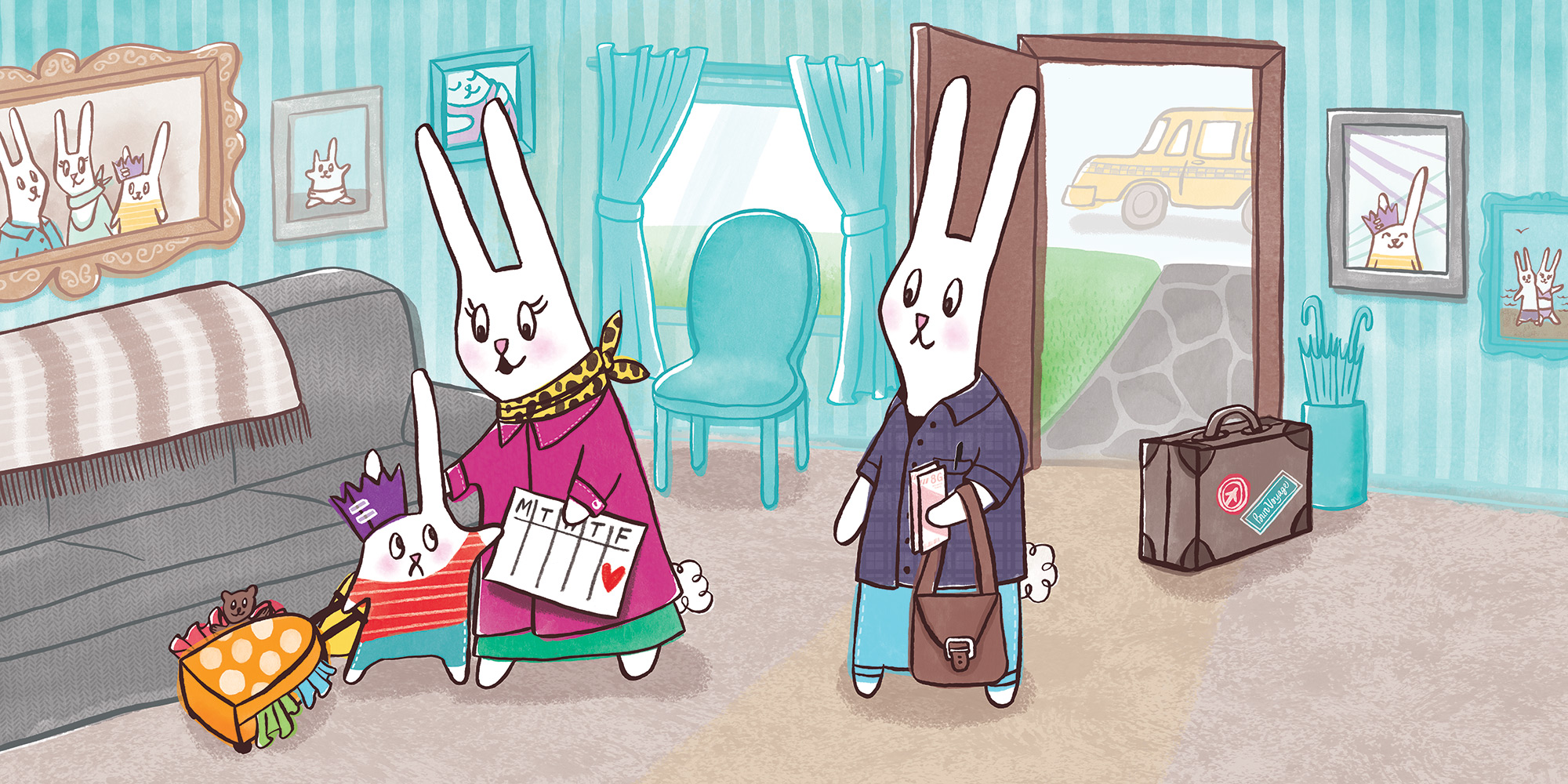 BUNNY'S STAYCATION, published by Scholastic