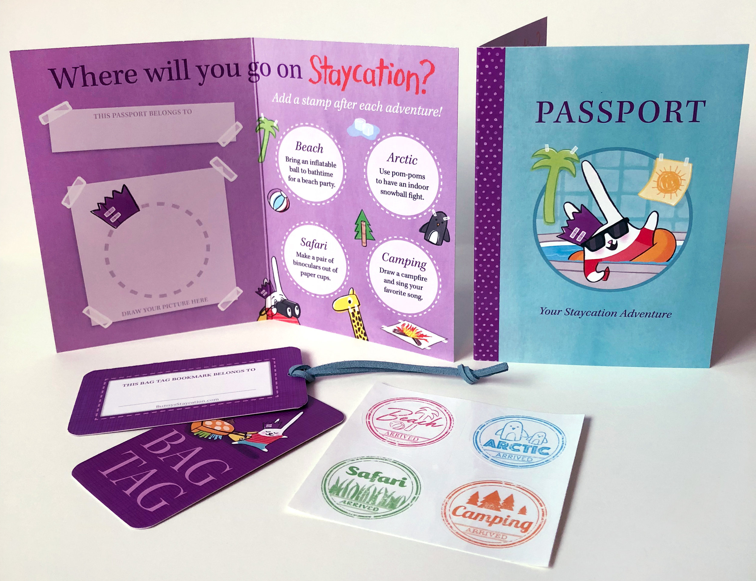 BUNNY'S STAYCATION Passport Kit