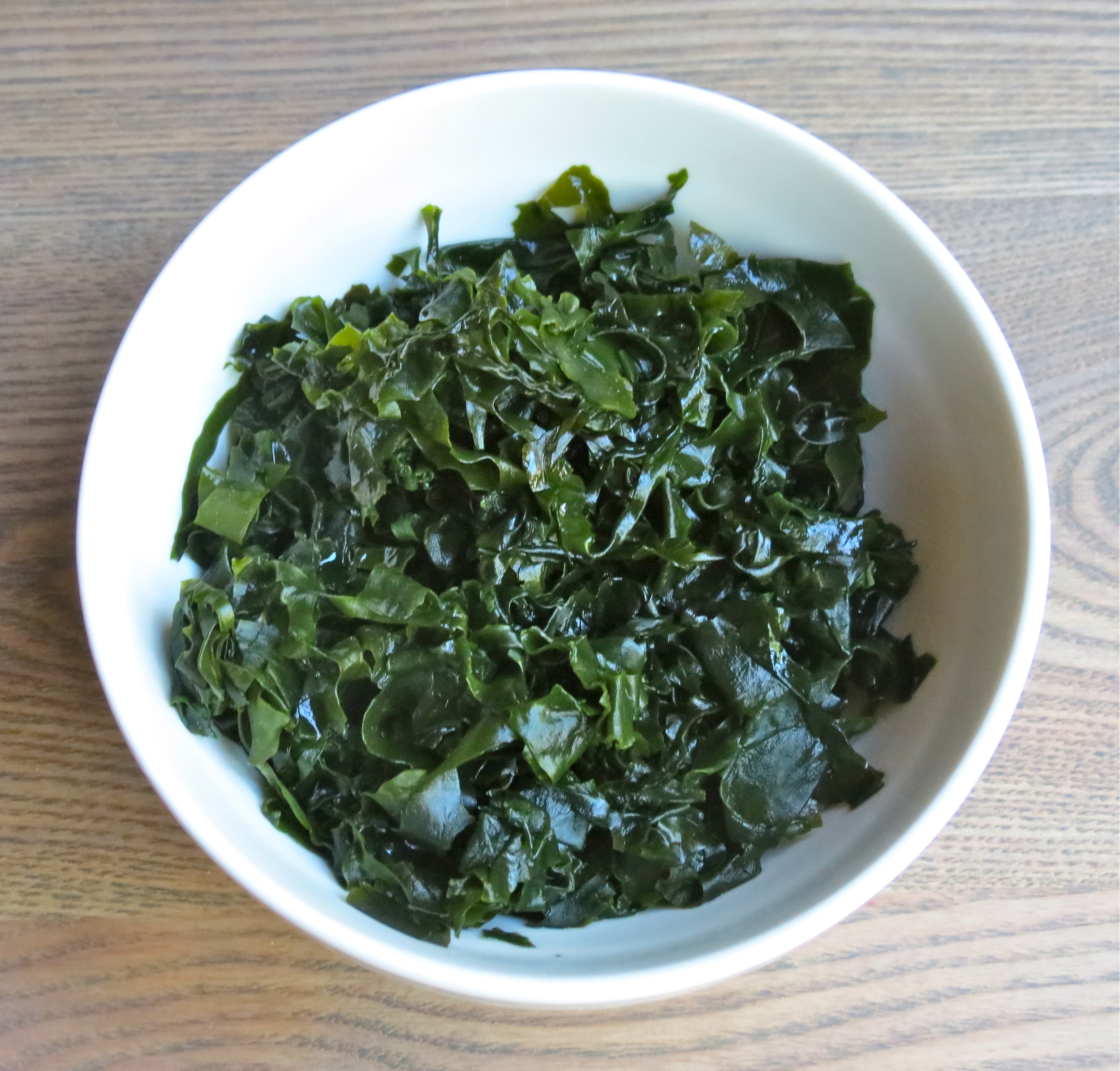 Wakame briefly soaked.