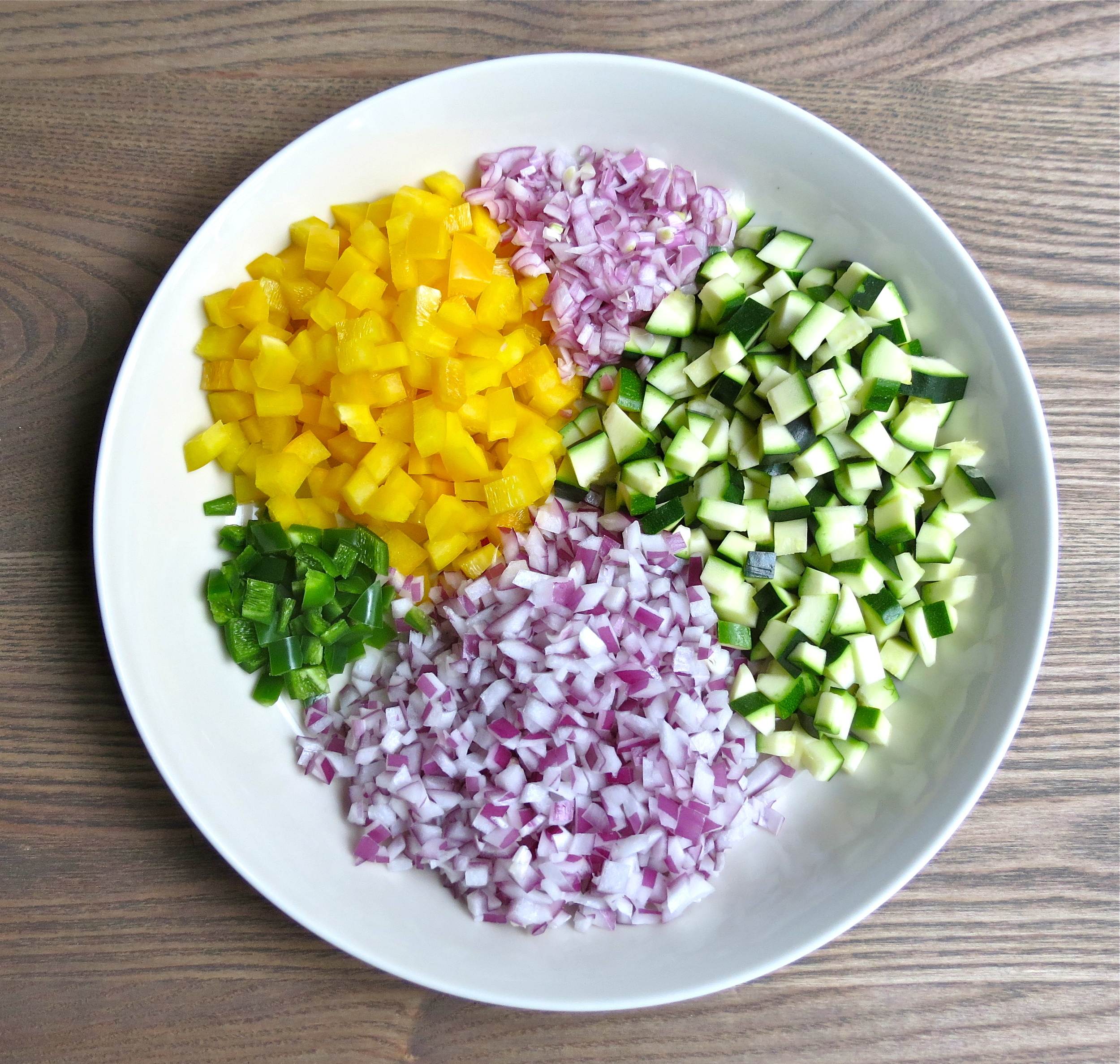 Colorful variety of vegetables.
