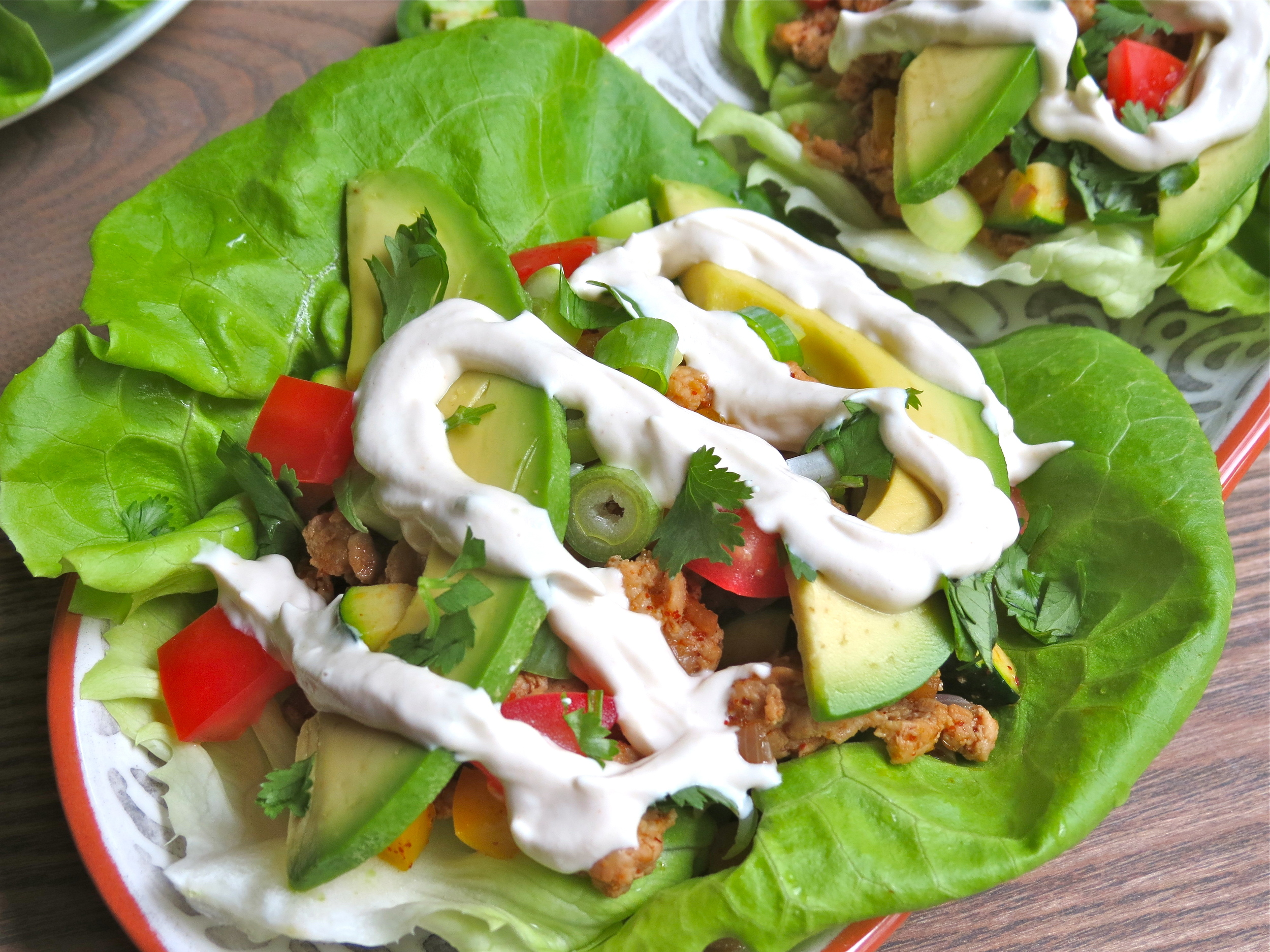 With  Cashew Sour Cream .