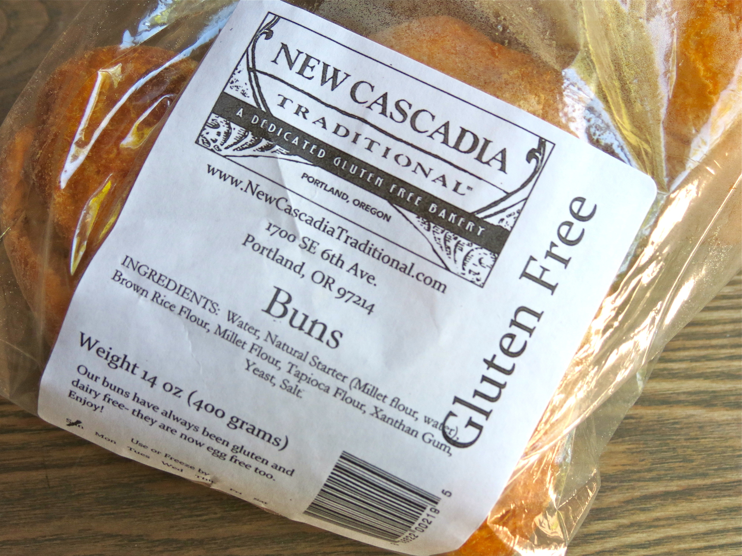 Delicious gluten-free buns from New Cascadia.