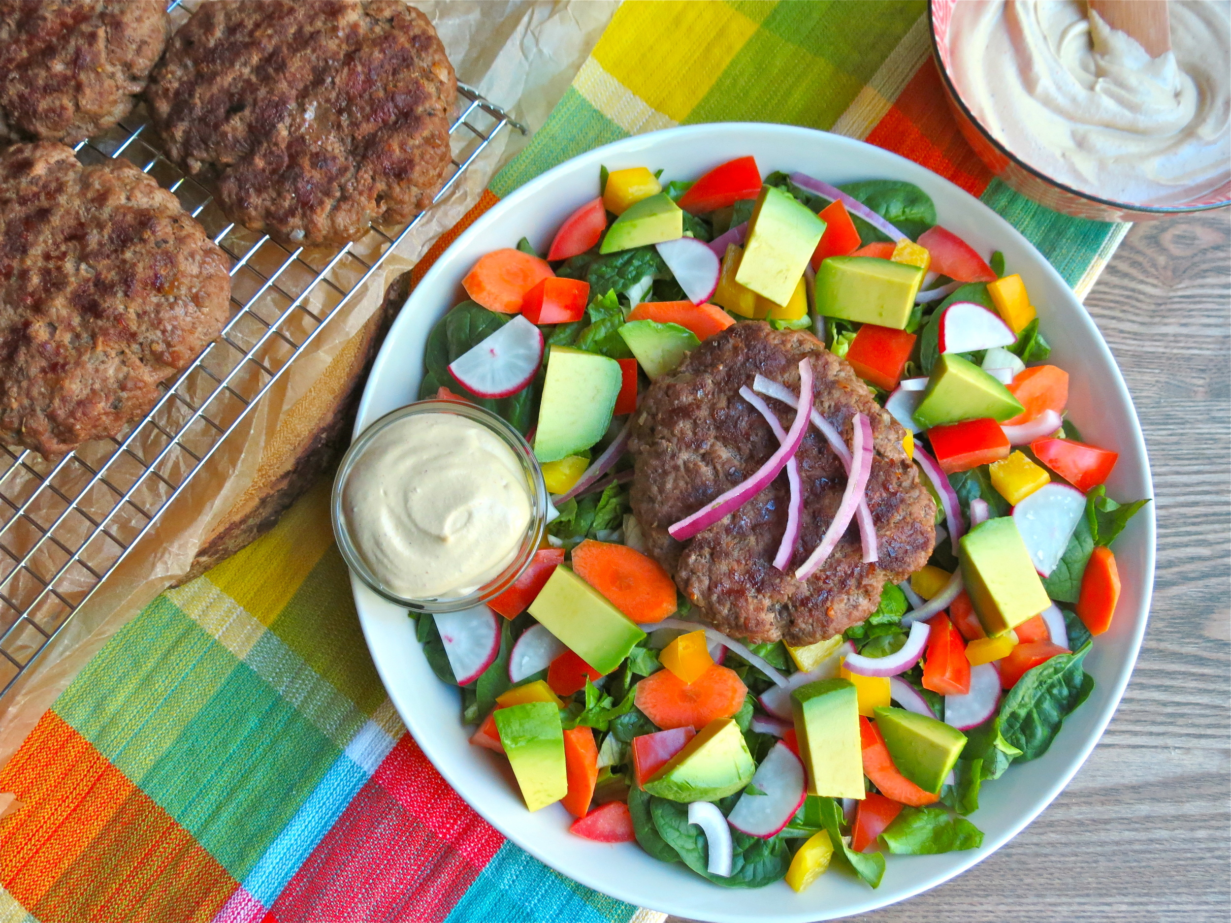 Grass-fed burger salad...OR