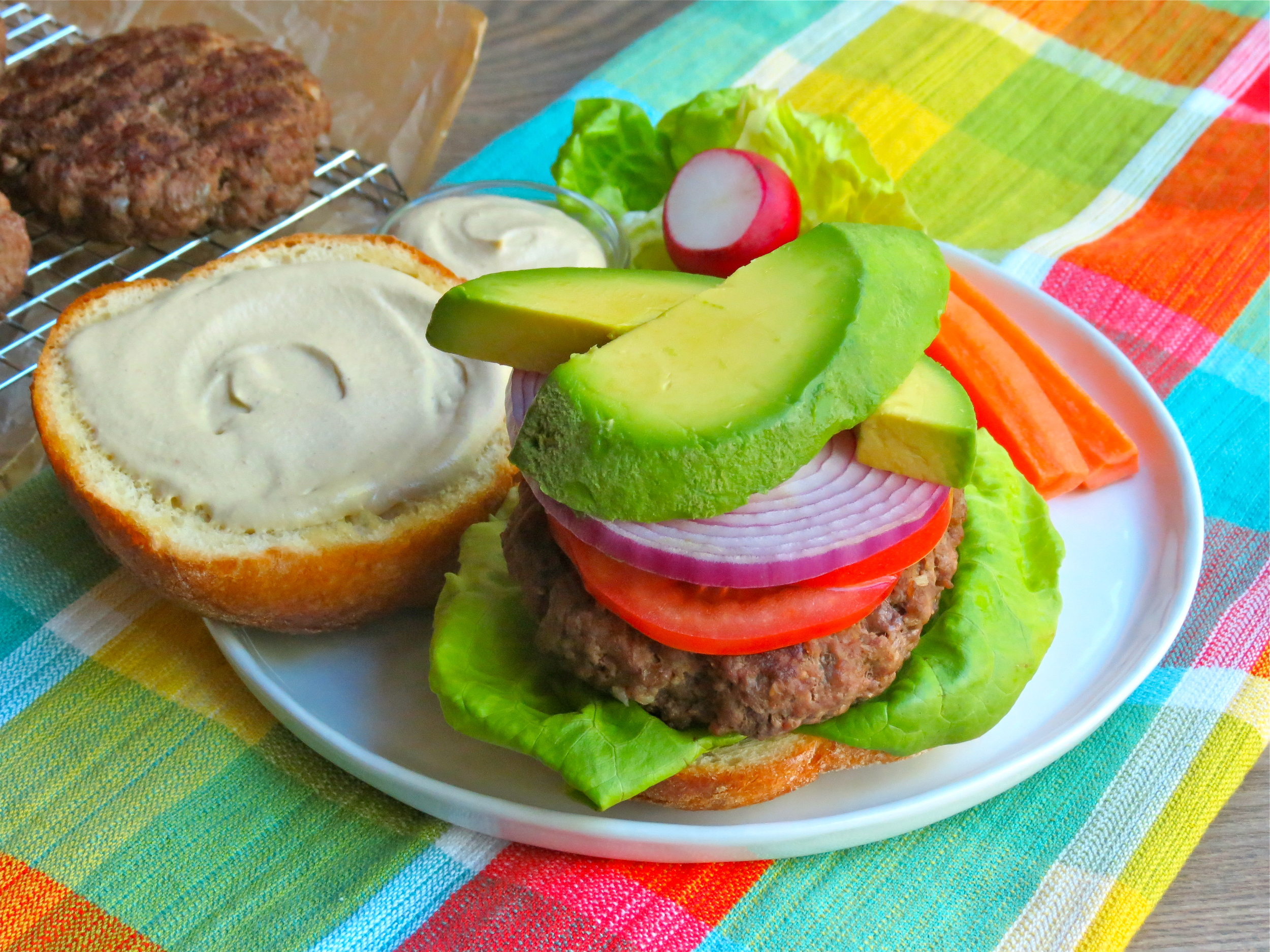 Grass-fed burgers on a bun! The choice is yours and you will enjoy either one.