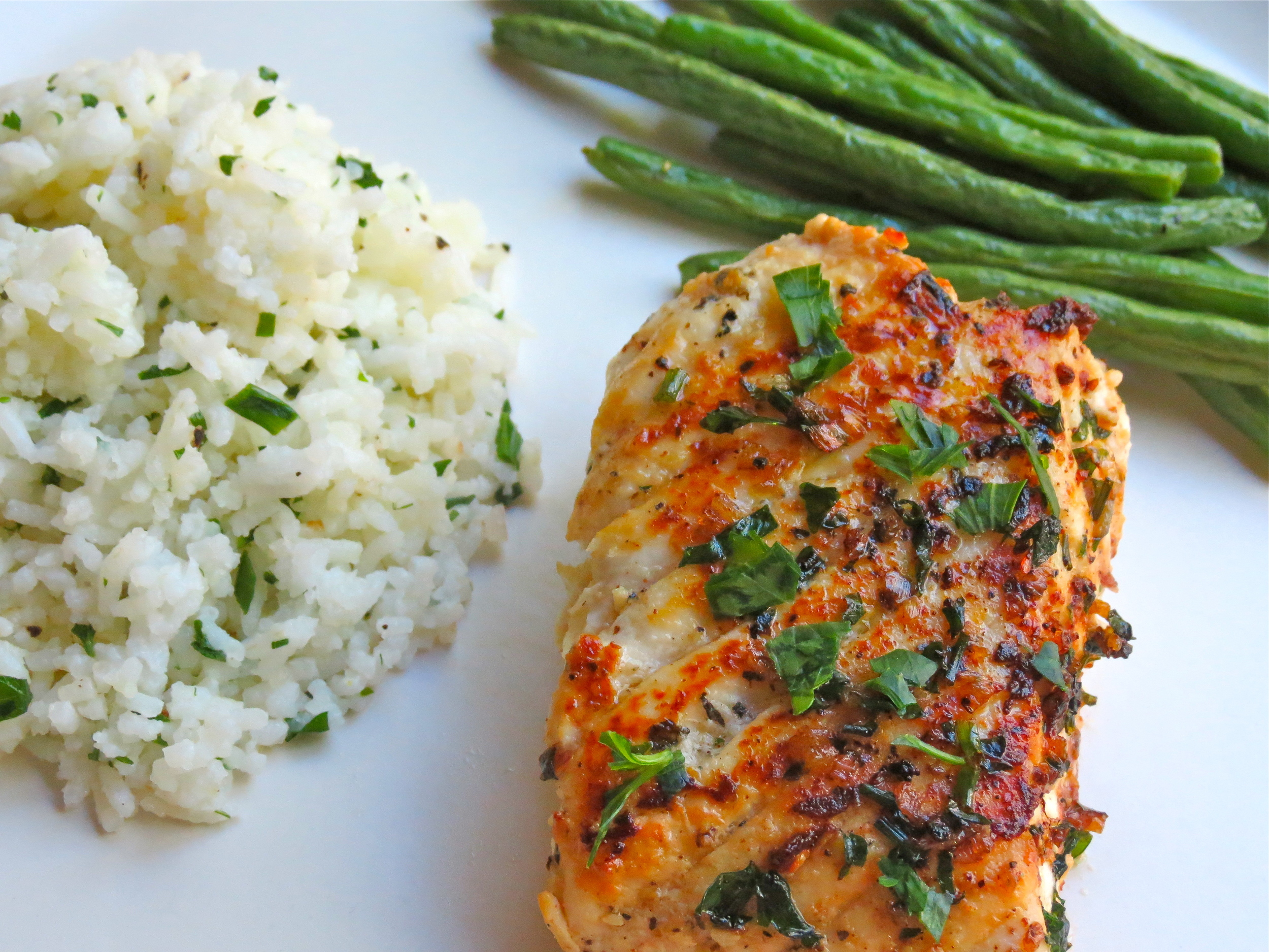 This is the rice recipe I paired with my   Pan Seared Halibut  .