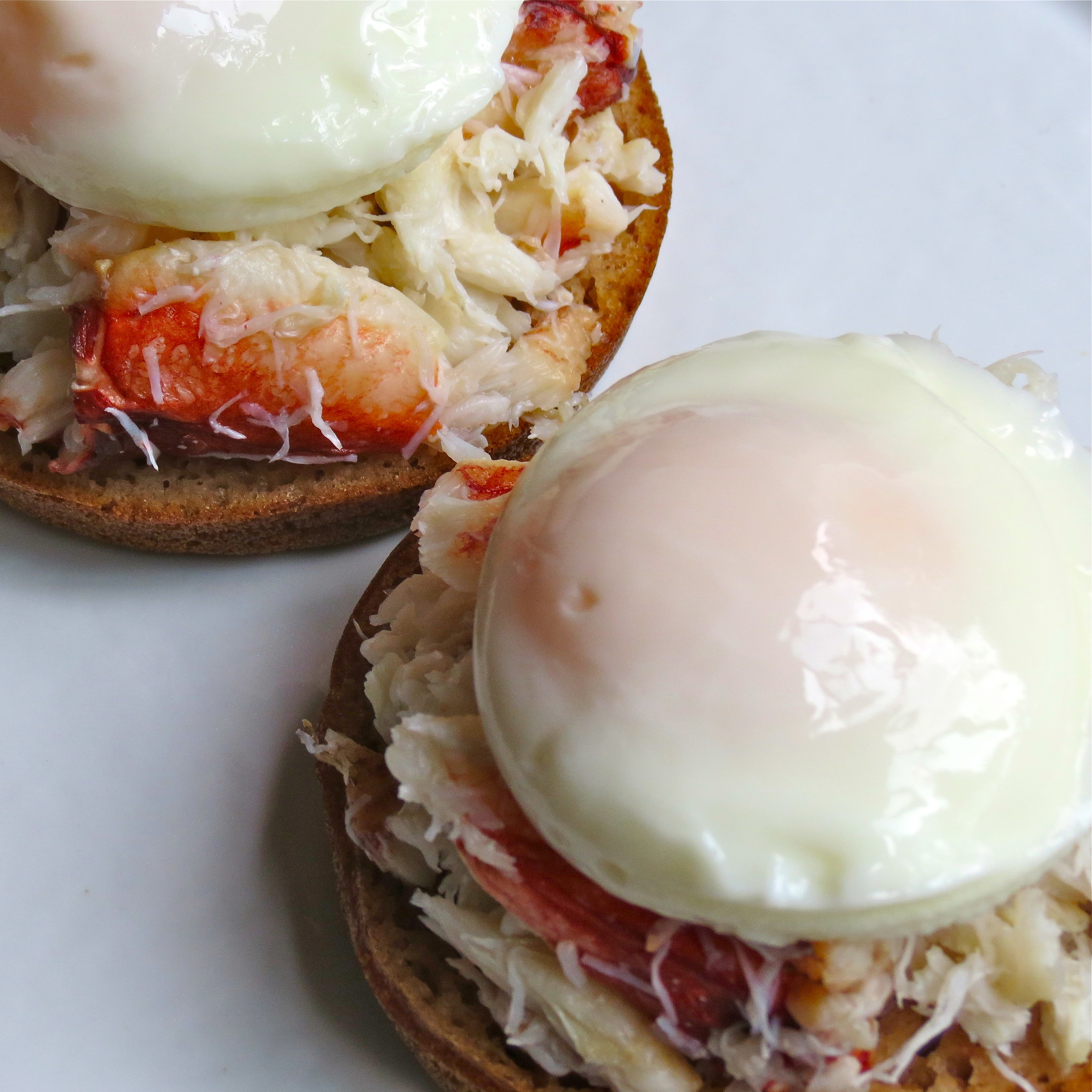 Beautifully poached eggs on top.