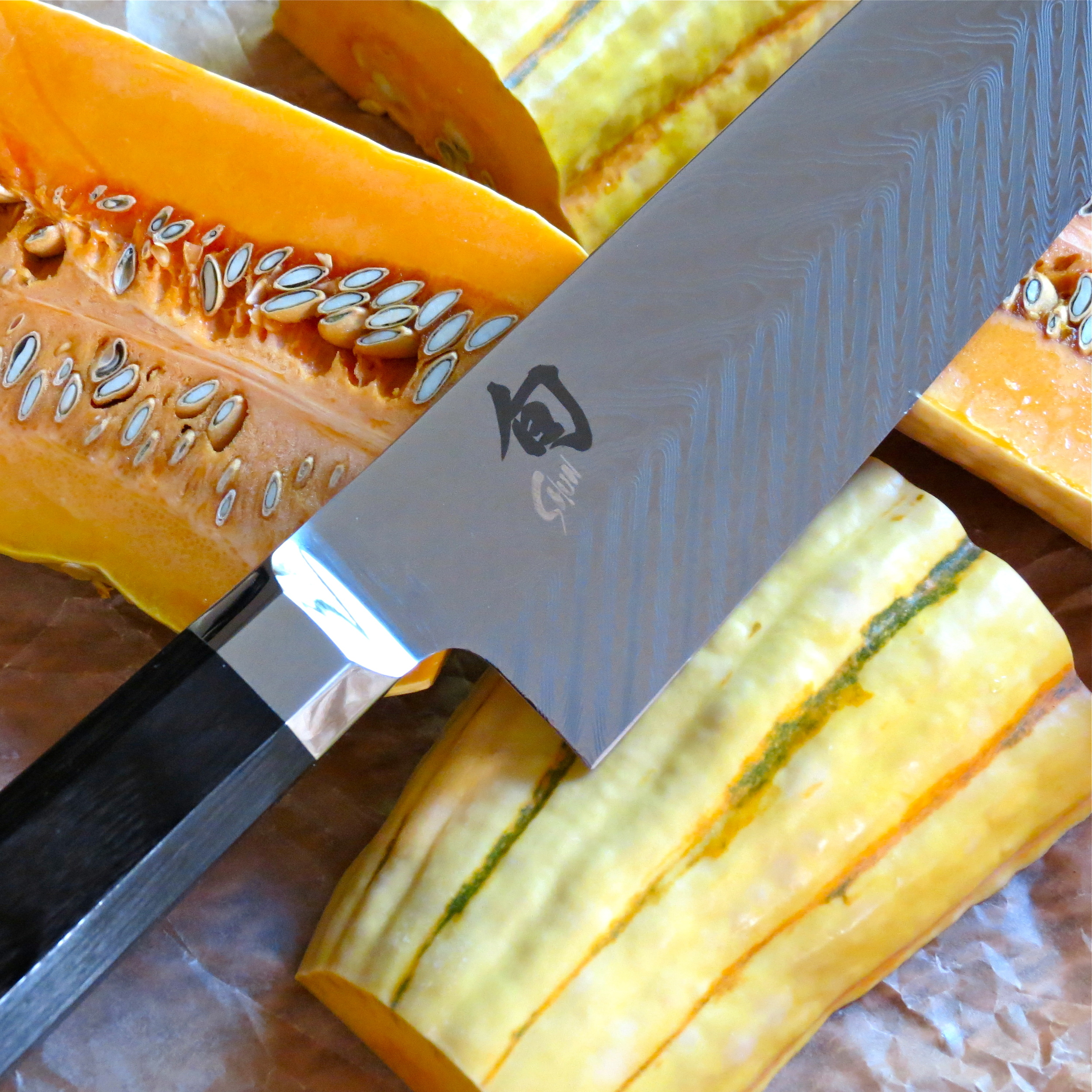 Precise, clean slices with a    Shun