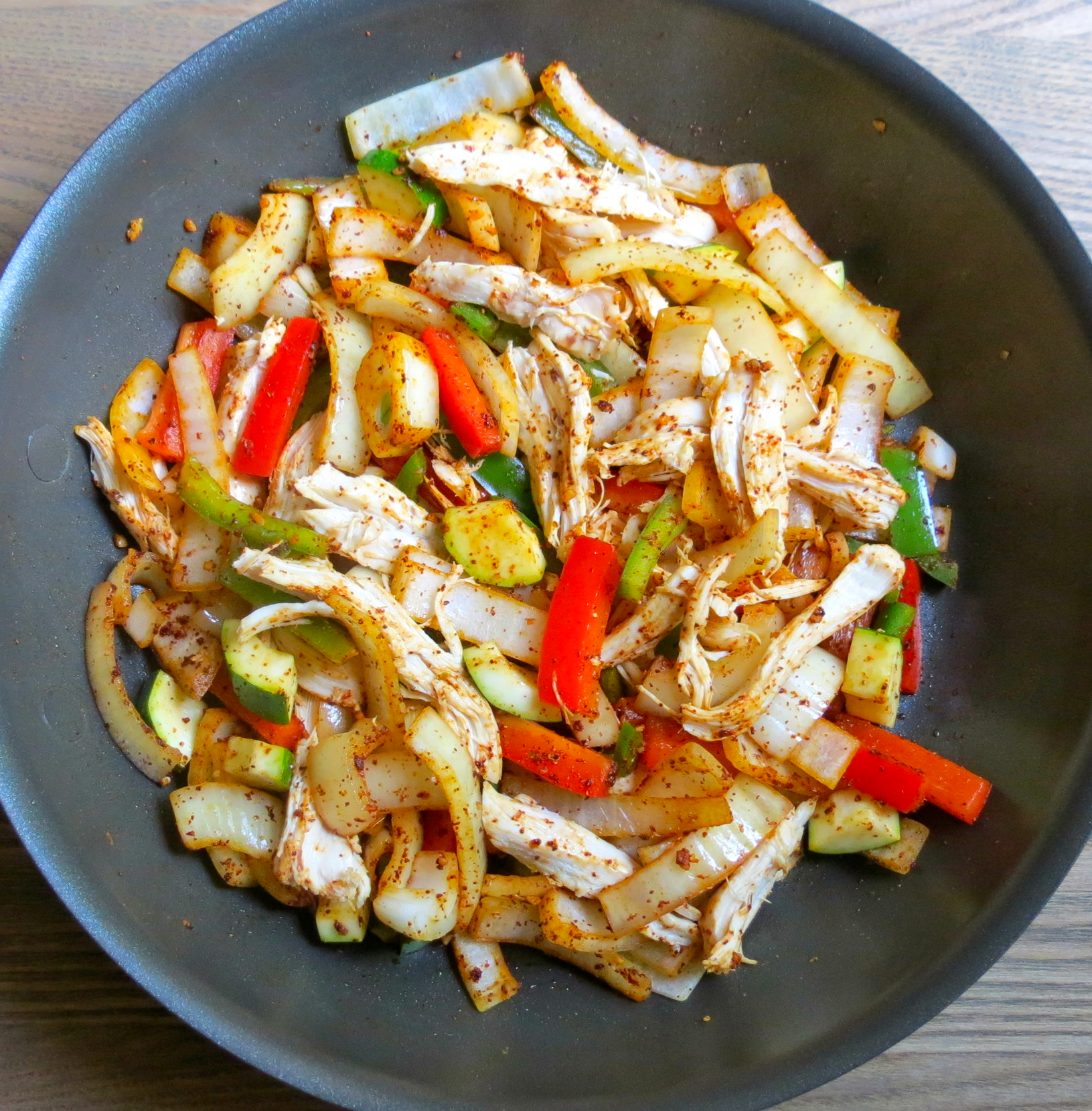 Sauteed vegetables and chicken.