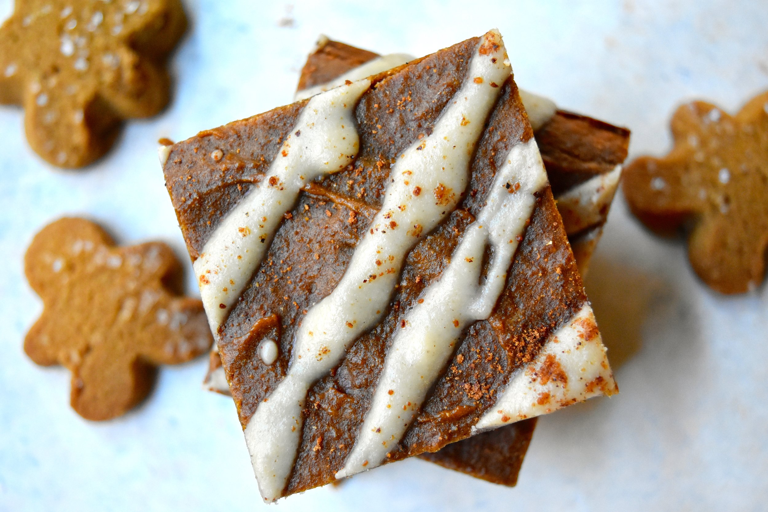 Gingerbread Chickpea Bars
