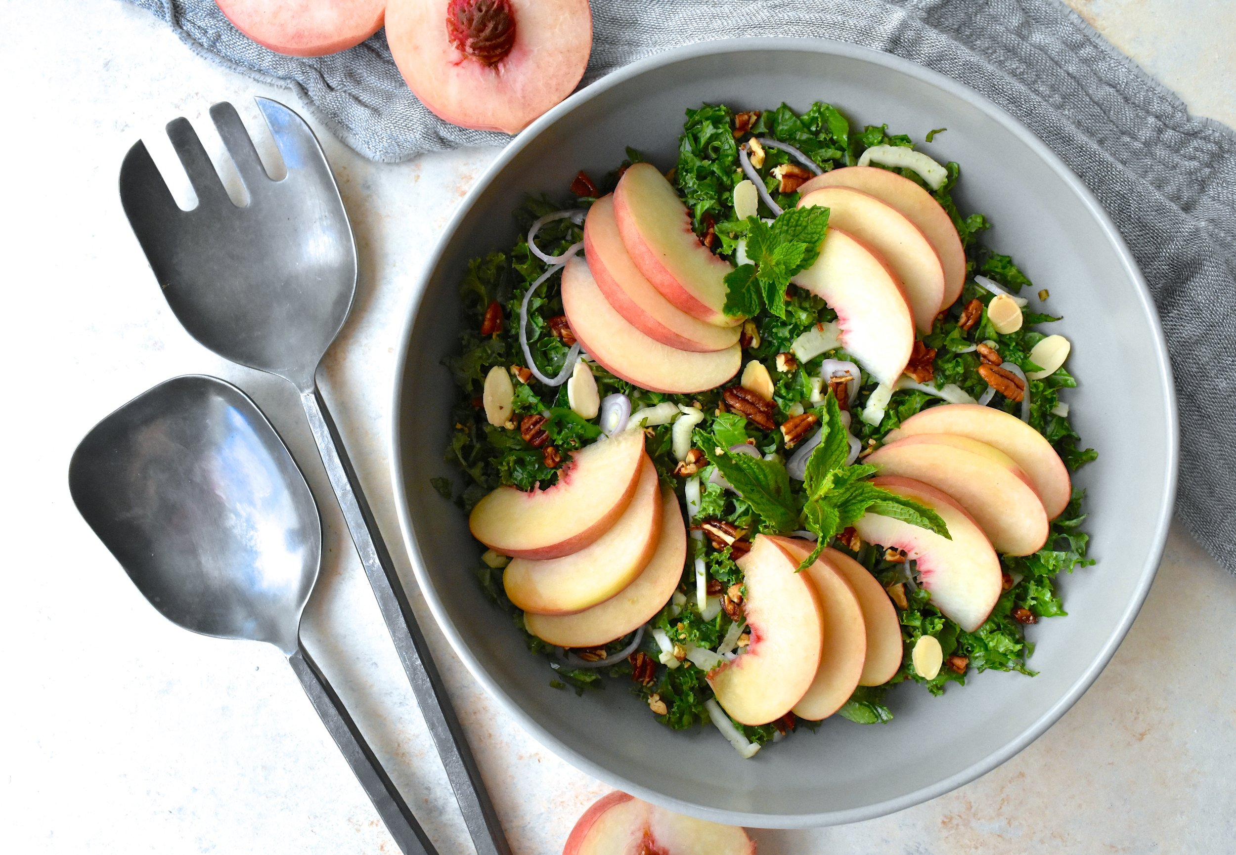 Peach and Kale Salad
