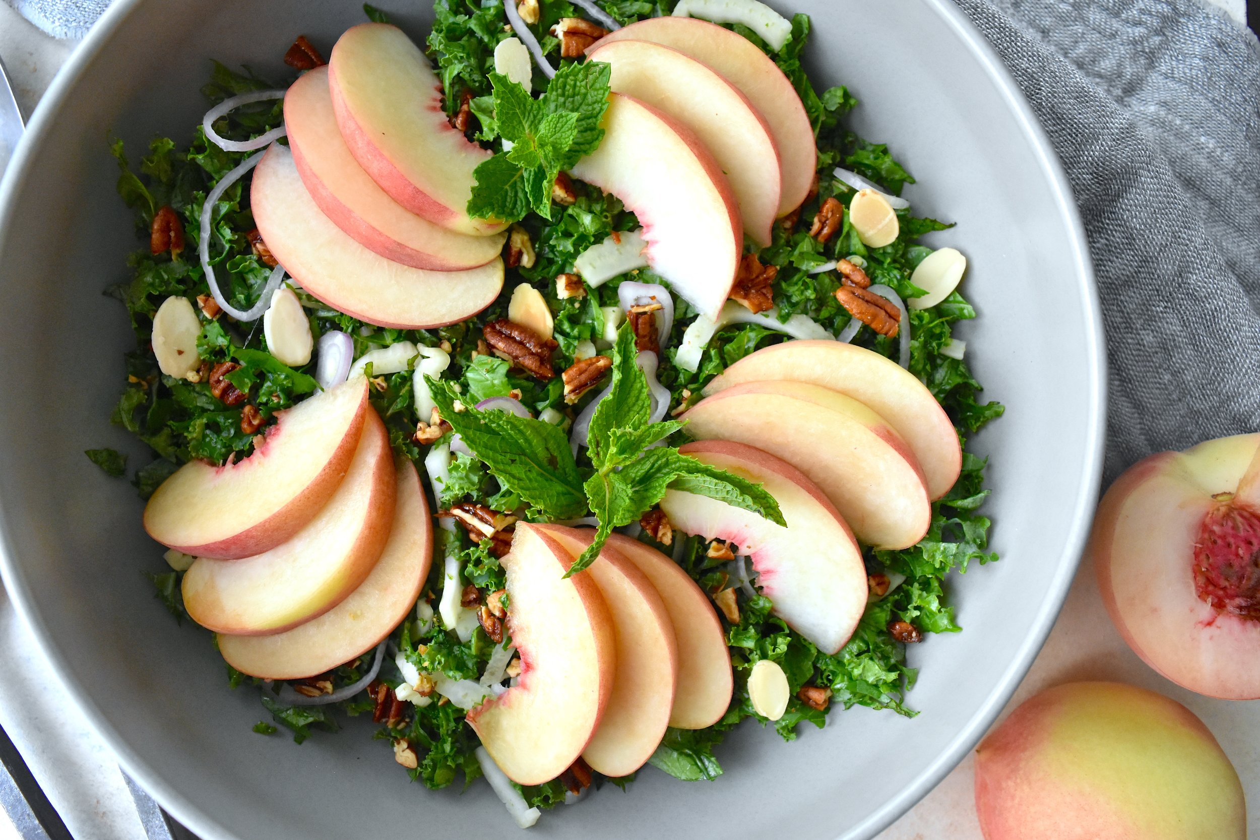Peach and Kale Salad 1