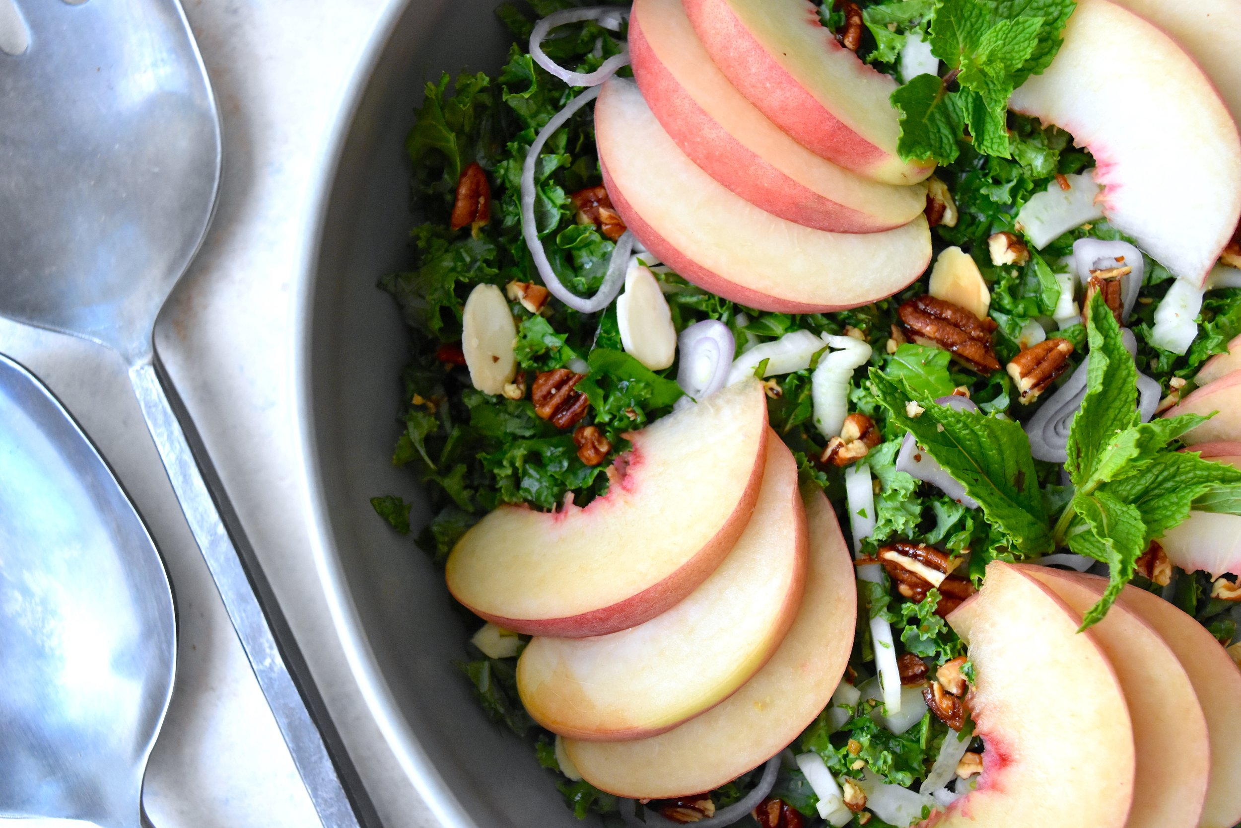 Peach and Kale Salad 2