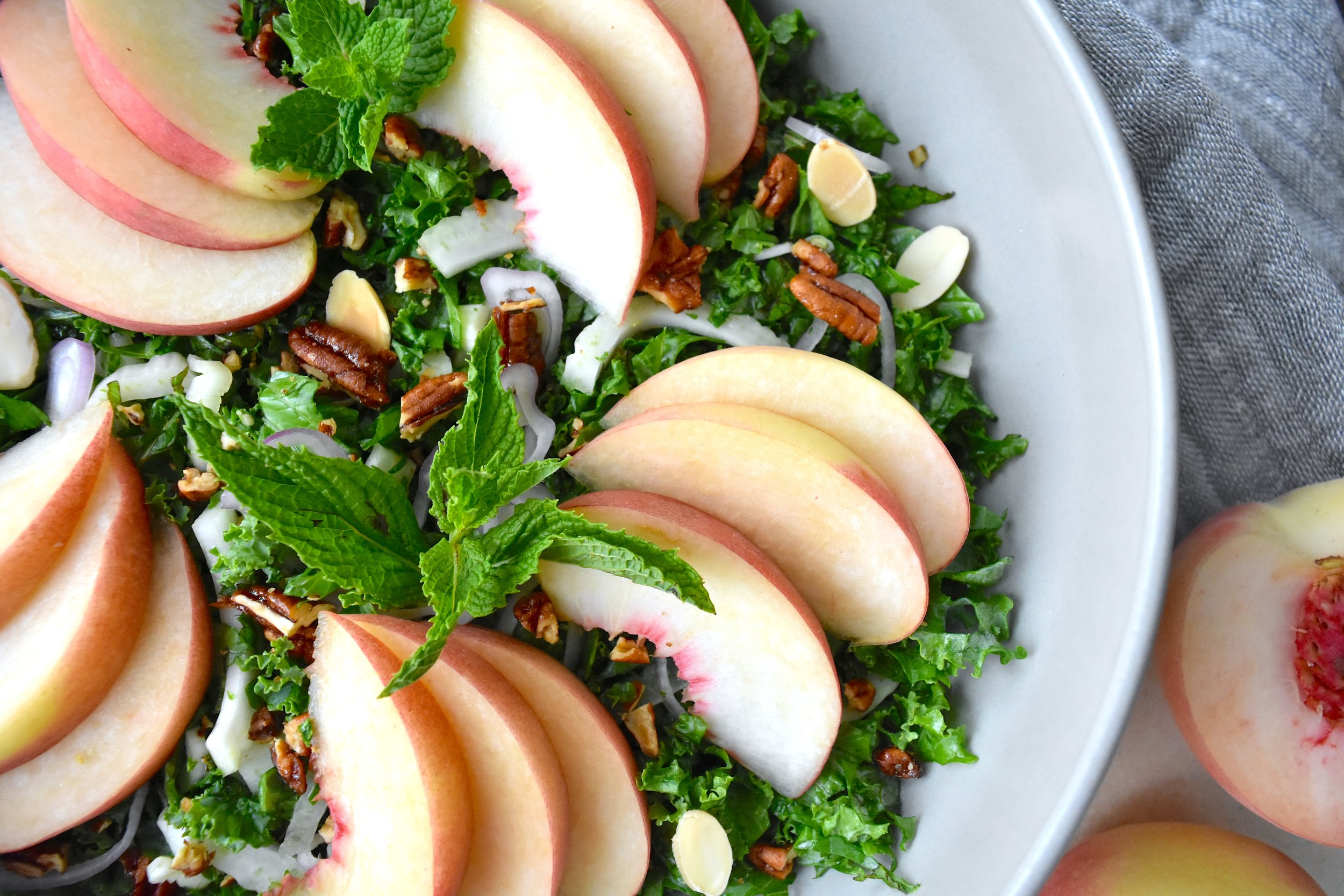 Peach and Kale Salad 3