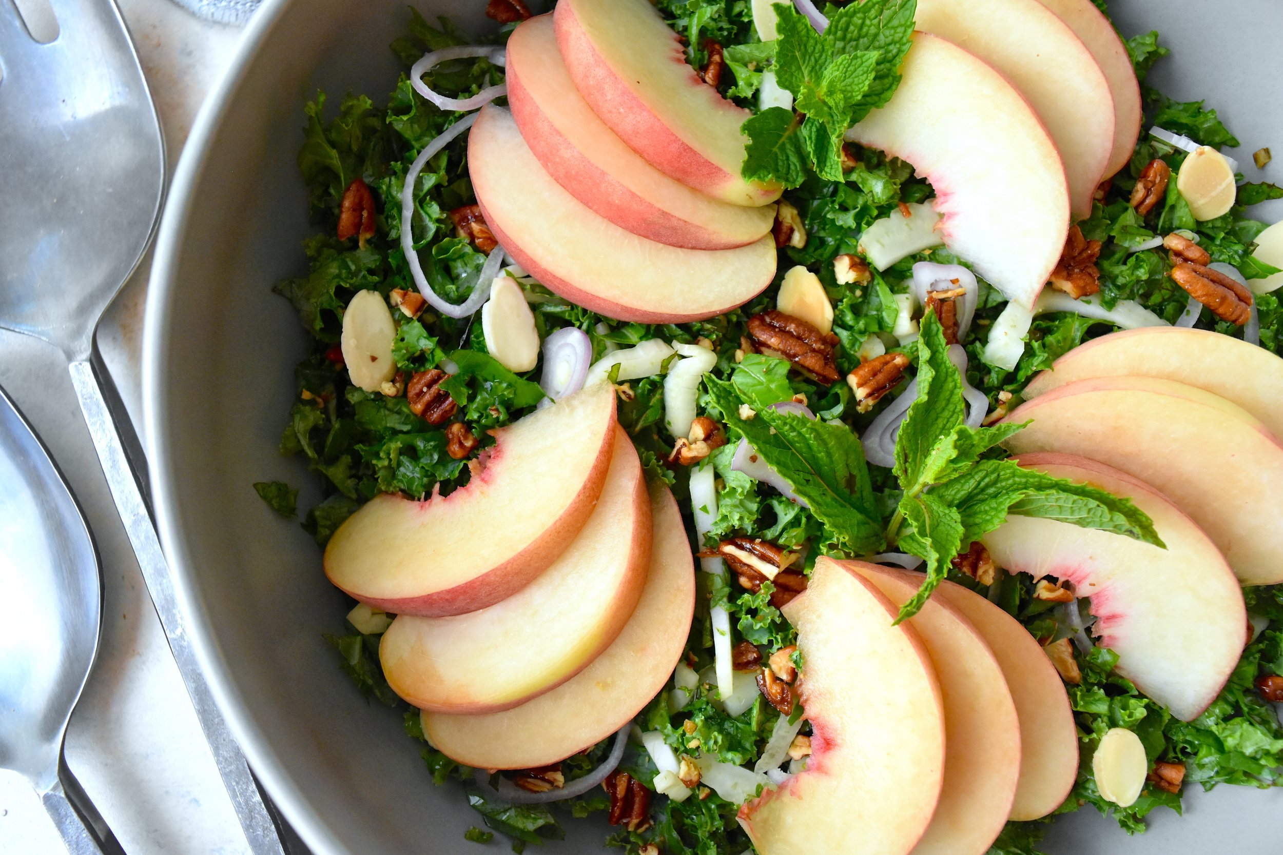 Peach and Kale Salad 5