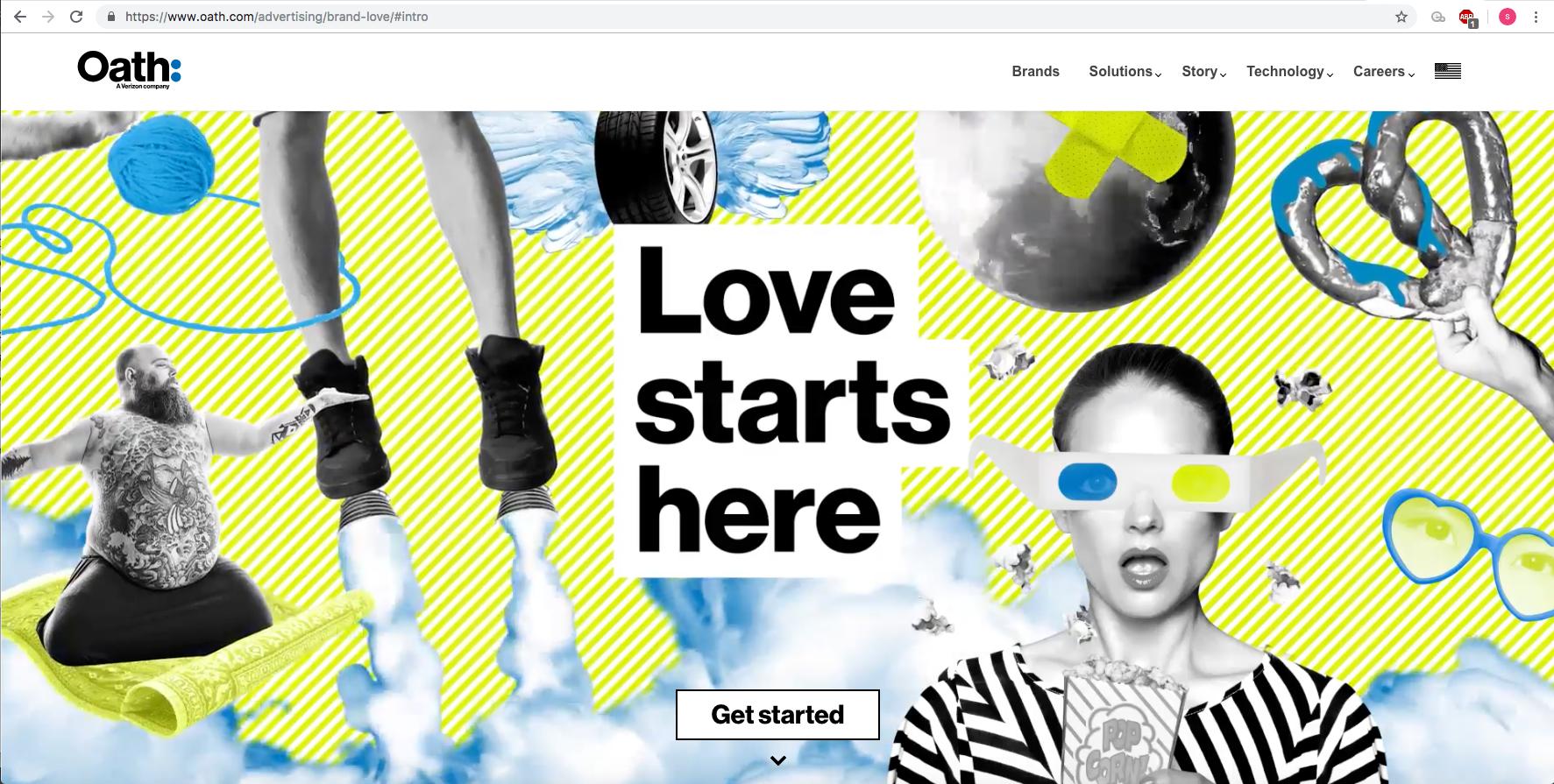 Brand Love Homepage