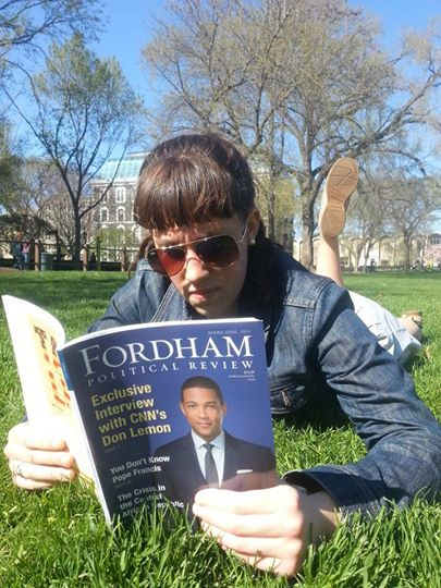 My modeling career began with the Spring 2014 edition of the Fordham Political Review!