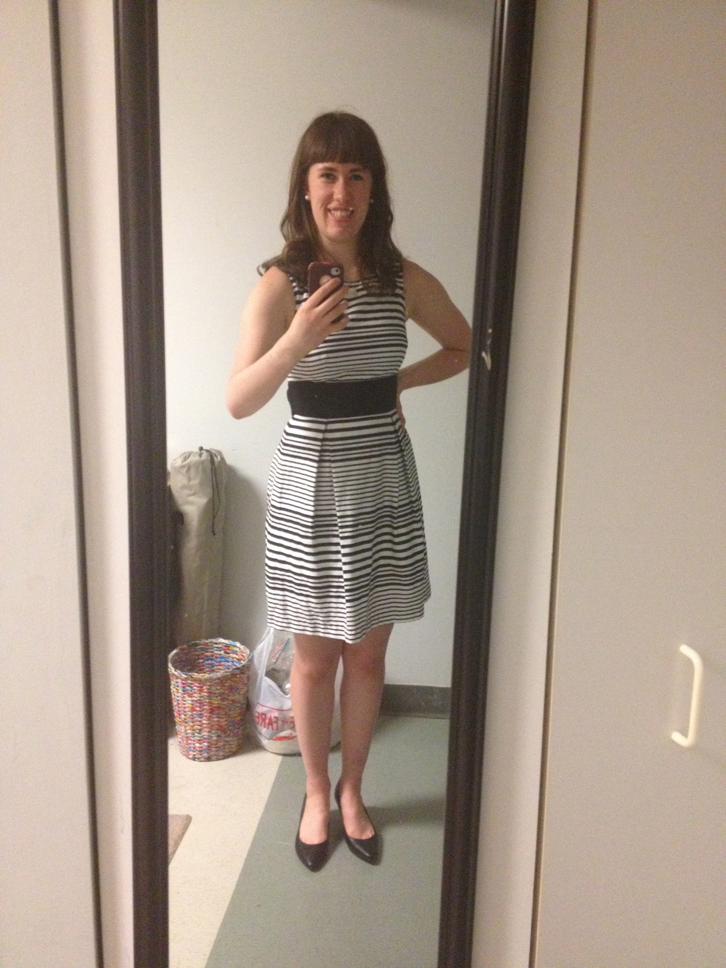 Blown-out hair and my dress for the Smart Girls Group Conference! (I'm also wearing heels!!)
