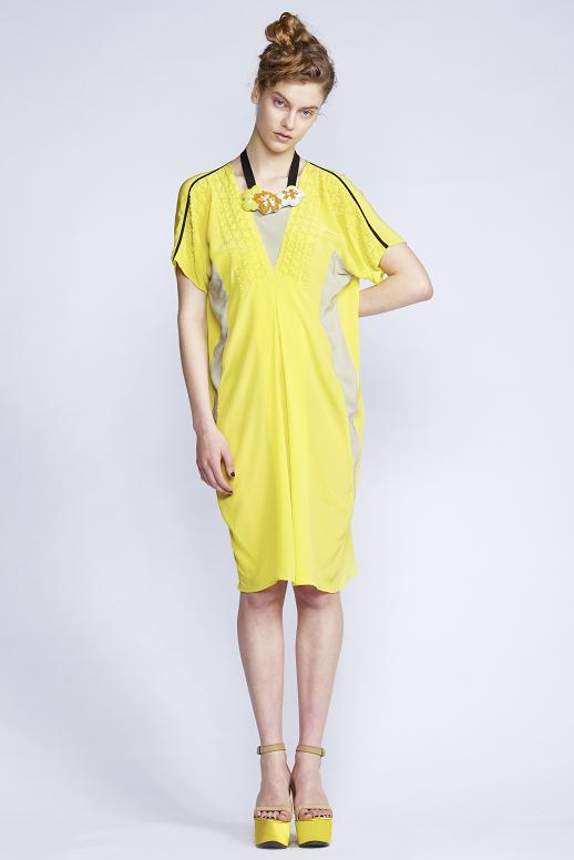 535/S131513 V-Neck Diamond Dress with Slip