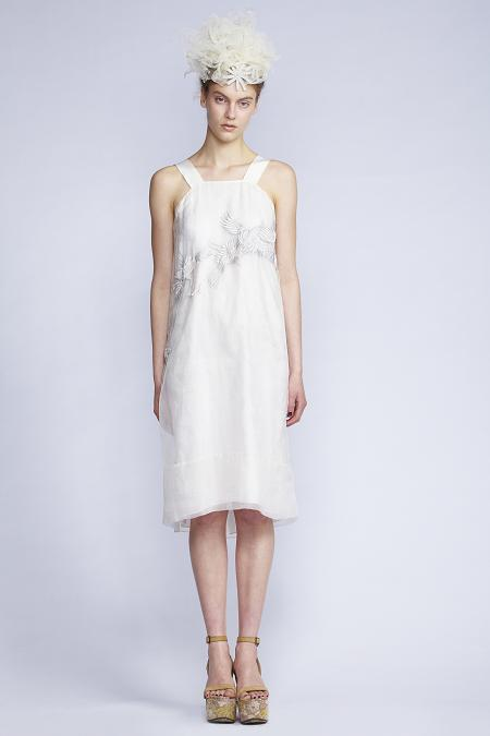 102/S131517 Bird Embroidered Strap Dress