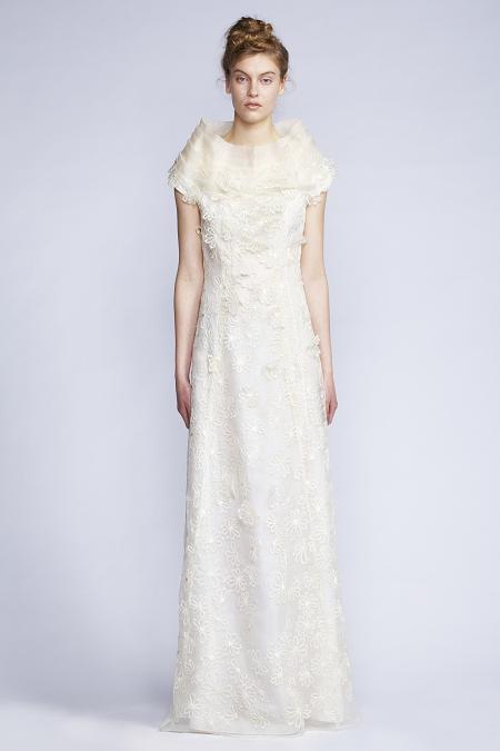 102/f131320L Petal Neck Long Dress