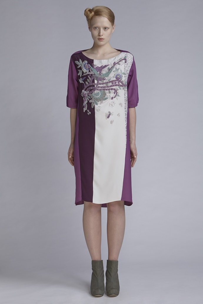 720/A141548B Yoke Dress