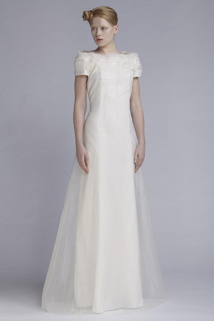 105/A141543 Petal Neck Long Dress