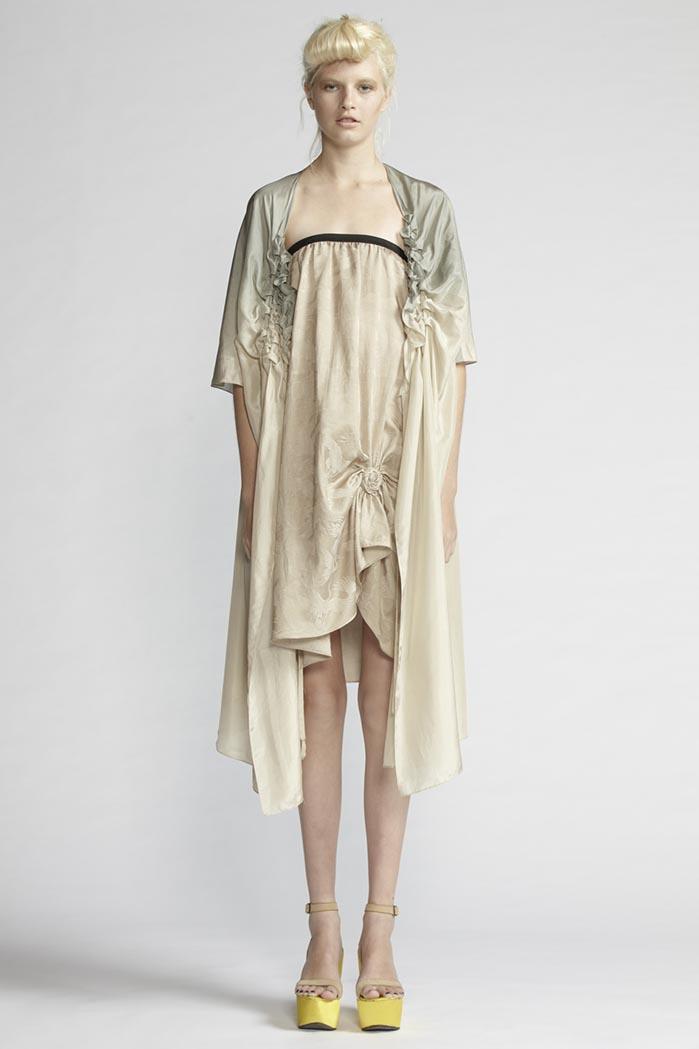150/F25221 Spiral Shibori Skirt/Dress    190/F21492 Origami Wrap Dress