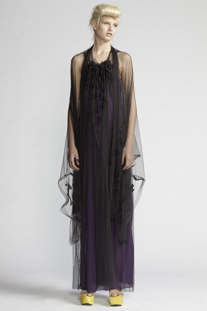 110/F21482 Beaded Spiral Shibori Long Dress    900/F27449 Large Beaded Scarf