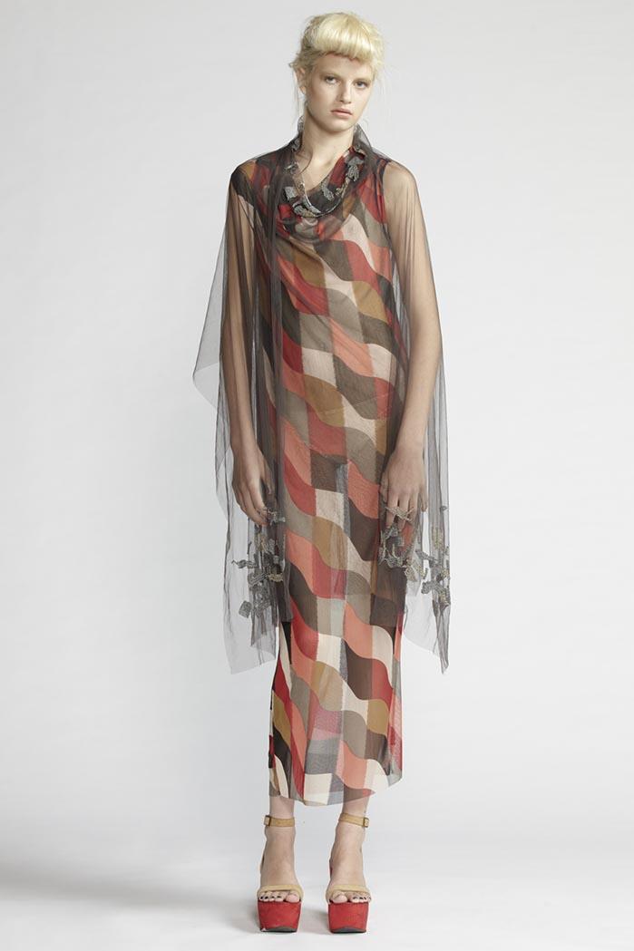 200/F21486P Printed Tube Dress    110/F21487 Beaded Curl Neck Dress    900/F27448 Beaded Scarf