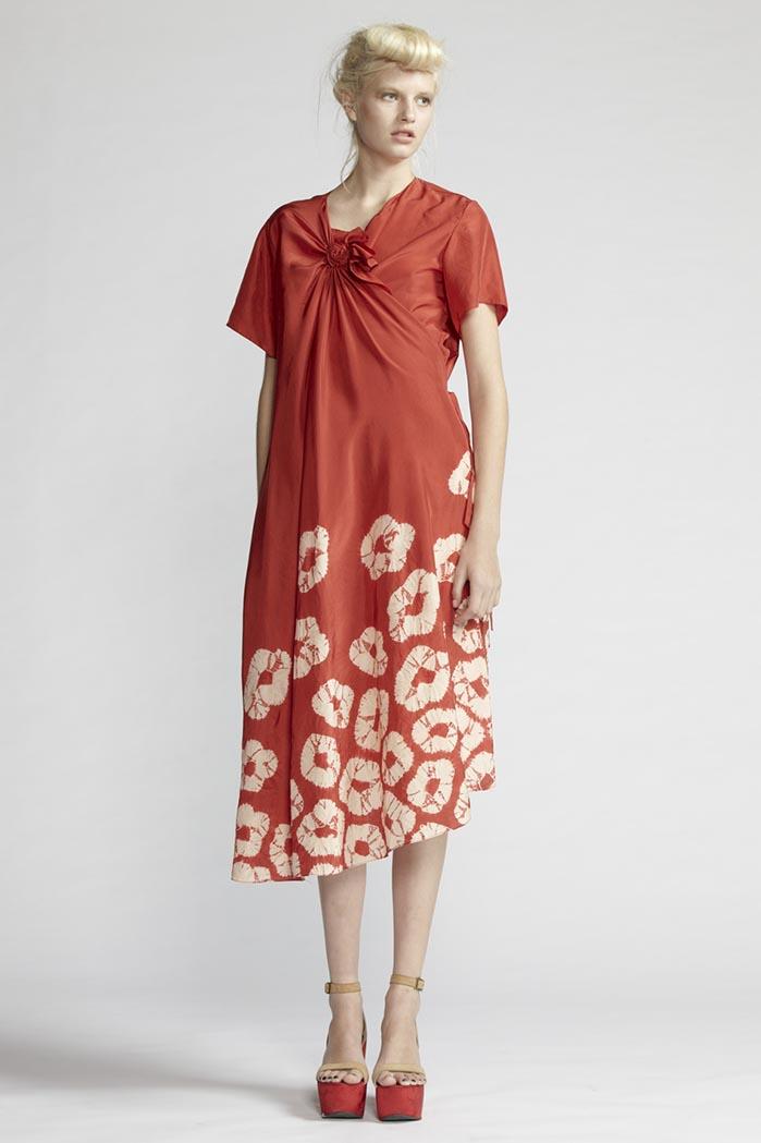160/F21488 Spiral Shibori Wrap Dress