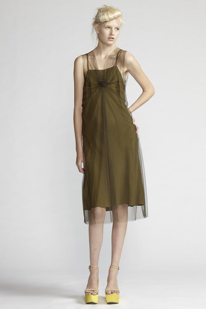 120/F21481 Spiral Shibori Dress