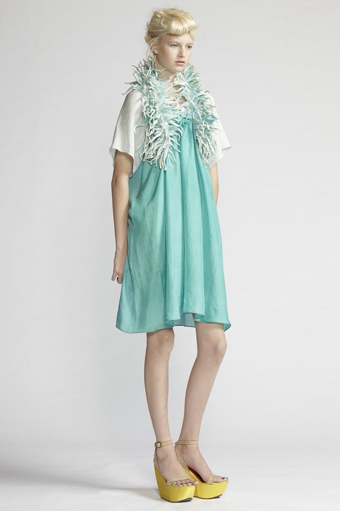 190/F21491 Origami Dress    900/F27440 Spike Shibori Scarf