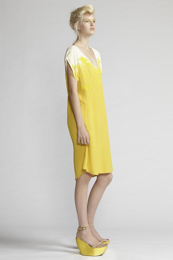220/F21483 Beaded V-neck Dress