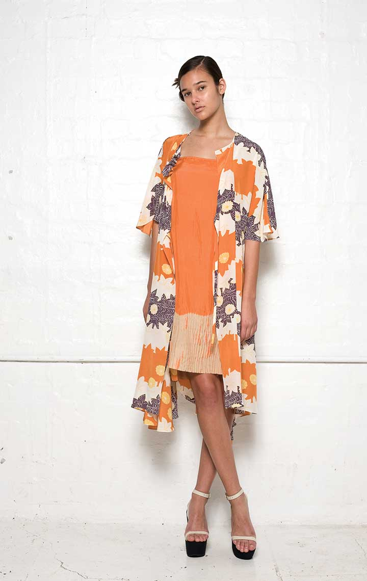 125/S01392B Strap Dress with Folded Back    120/S01339P Spiral Shibori Wrap Dress