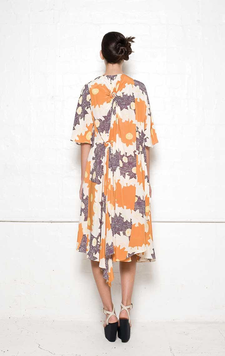 120/S01339P Spiral Shibori Wrap Dress