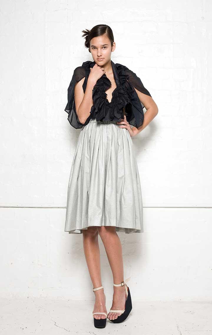 150/S08155 Spiral Shibori Bolero    145/S05207A Gathered Skirt