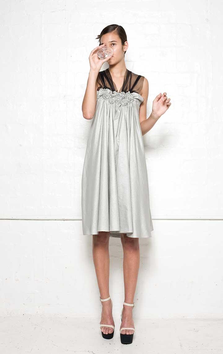 145/S01394 Spiral Shibori Short Dress